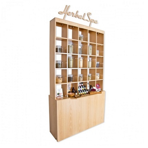 Double Herbal Display Cabinet 1a