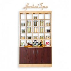 Double Herbal Display Cabinet