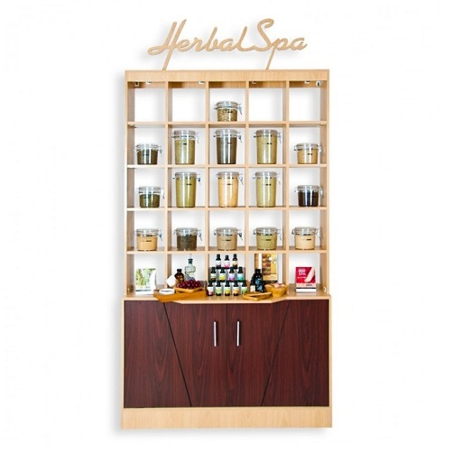 Double Herbal Display Cabinet 3a