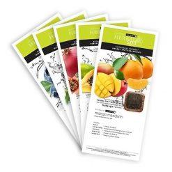 Herbal Spa Fruity-Tea Menu Card 5 pcs set