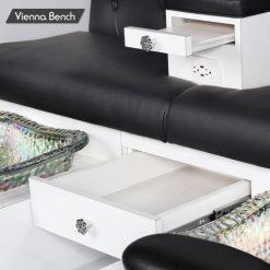 Vienna Triple Spa Pedicure Bench 4