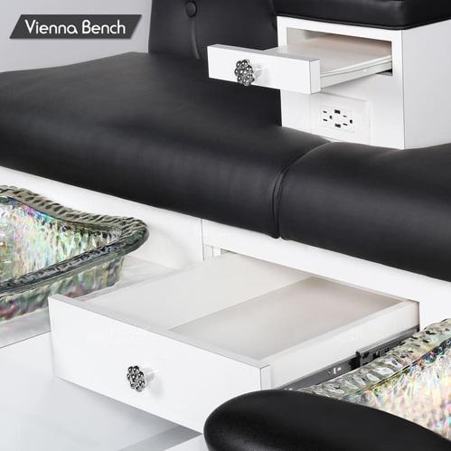 Vienna Triple Spa Pedicure Bench