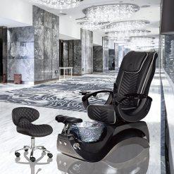 Alden Crystal Spa Pedicure Chair Base Black 1