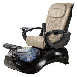 Alden Crystal Spa Pedicure Chair Base Black 3