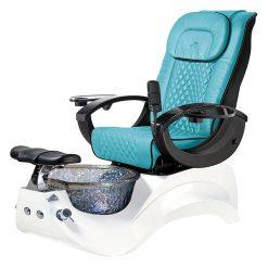 Alden Crystal Spa Pedicure Chair Base White