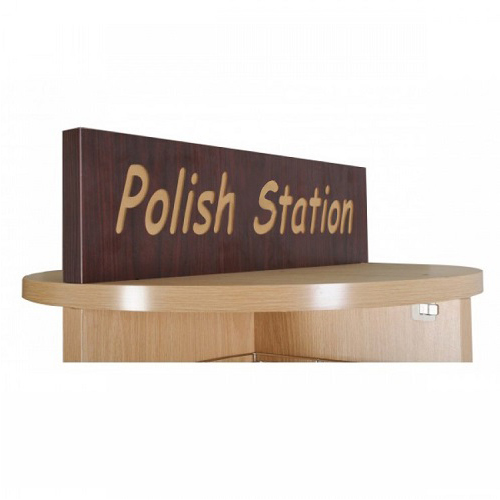 Deluxe Wooden Rotary Polish Stand Rack