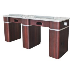 Hilton Double Nail Table With Pipe - 1