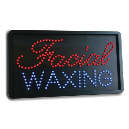 LED Facial Waxing Sign 06