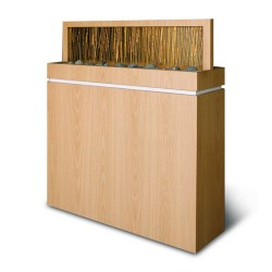 Salon Divider with Acrylic Bamboo 01