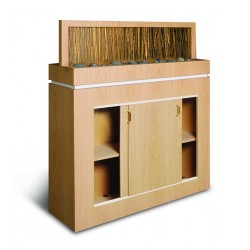 Salon Divider with Acrylic Bamboo 02