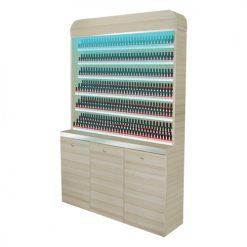 Topas Polish Rack With Gel Color Cabinet – 48″