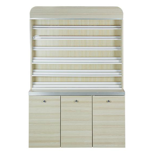 Topas Polish Rack With Gel Color Cabinet – 48″