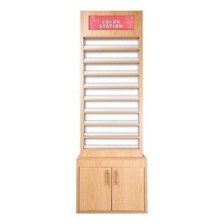 Wooden Polish Stand Rack - 4