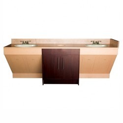 Contemporary Double Sink Cabinet - 1a