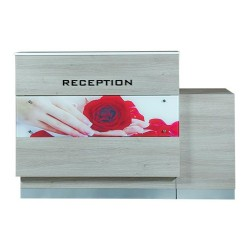 Moon Reception Desk 3 With Led - 2