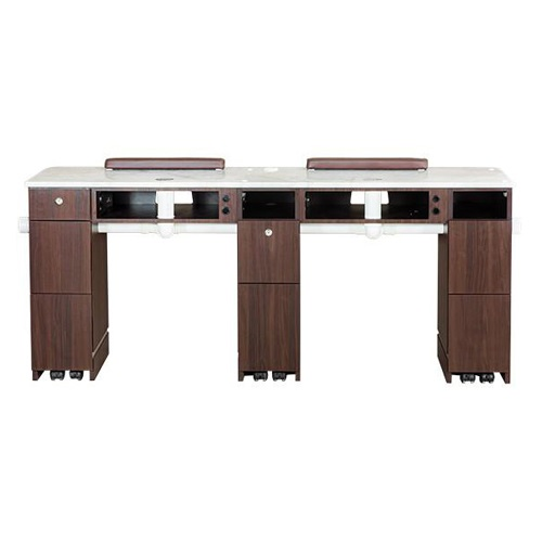 Venus Double Nail Table With Pipe 72 Inches