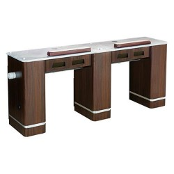 Venus Double Nail Table With Pipe 72 Inches - 8