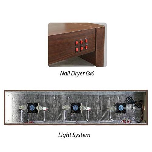 Venus Nail Dryer Table 6×6