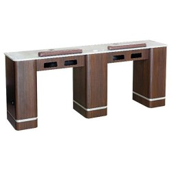 Venus Vented Double Nail Table 73 Inches - 1