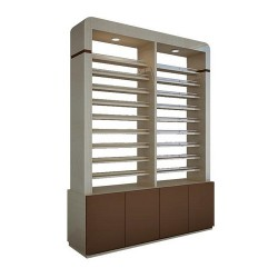 2-Sided Polish Rack W-Cabinet