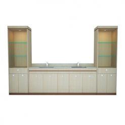 """Double Sink w/Cabinet 100"""""""