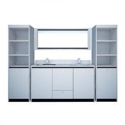 """Double Sink w/Cabinet 102"""""""