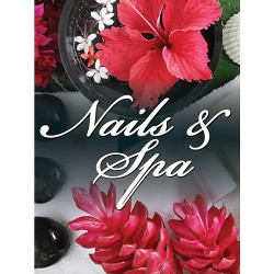 Holographic Window Decal - Nails & Spa - H-9