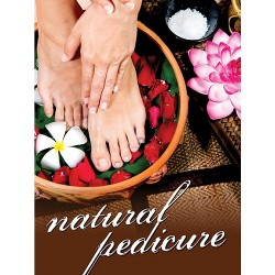 Holographic Window Decal - Natural Pedicure - H-1