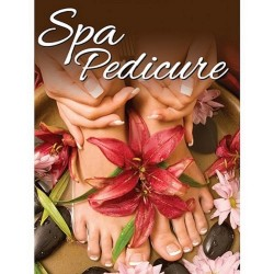 Holographic Window Decal - Spa Pedicure - H-3