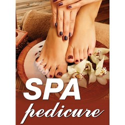 Holographic Window Decal - Spa pedicure - H-2