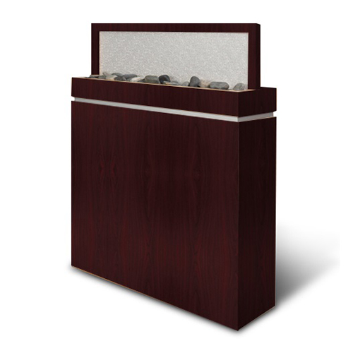 Salon Divider with Frosted Acrylic