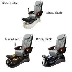 Siena Pedicure Spa Chair Base Colors