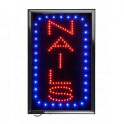 Vertical Nails LED Sign