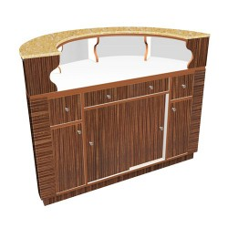 Avon II Round Reception Desk 0
