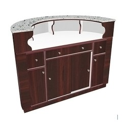 Avon Round Reception Desk 0