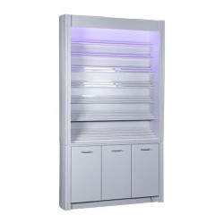 Daisy Powder Rack with Cabinet 48″ - 2