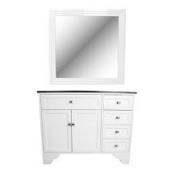 Maybelle Traditional Vanity Styleing Station With Mirror - 01