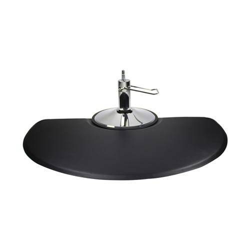 Deluxe Half Circle Salon Mat 3×5