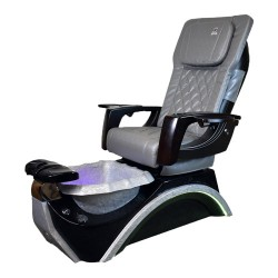 Dover 3D Silver Pedicure Spa Chair - 1