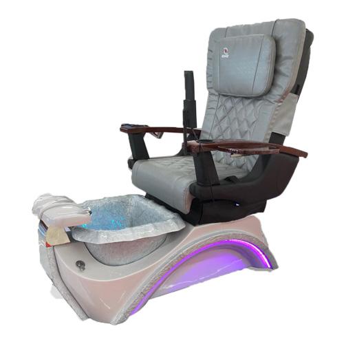 Dover 3D Silver Pedicure Spa Chair