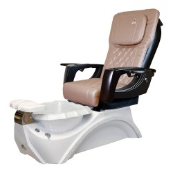 Dover 3D Snow White Pedicure Spa Chair - 2