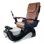 Indy 3D Black and White Pedicure Spa Chair - 1