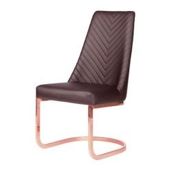 8110RG Rose Gold Customer Chair Chervon - 52