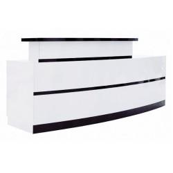 LUX BW Stripes Reception Desk - 01
