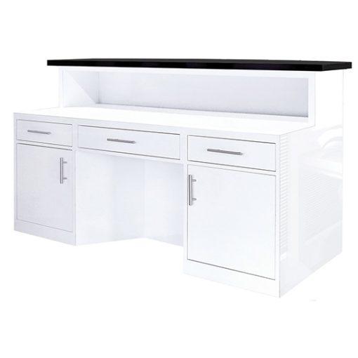 LUX BW Stripes Reception Desk