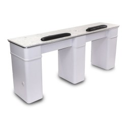 White Sonoma Double Manicure Table - a2