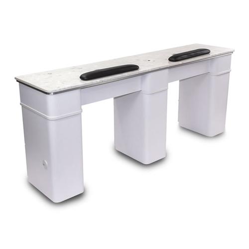 White Sonoma Double Manicure Table