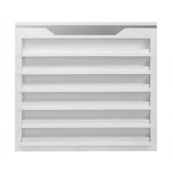 White Sonoma Double Shelves Polish Rack - a2
