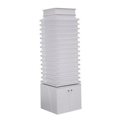 White Sonoma Double Shelves a Powder Center with 360 Degree Swivel - a1