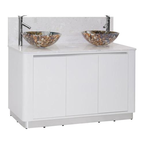 White Sonoma Double Sink